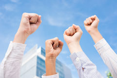 We are the power! Stock Image
