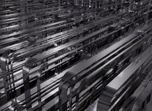 Power. Abstract factory urbanism of endlessness and power Stock Image