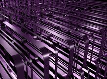 Power. Ultraviolet factory urbanism of endlessness and power Royalty Free Stock Photos