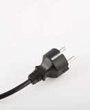 Power. A black plug used in europe Stock Photos