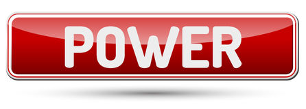 POWER - Abstract beautiful button with text. Royalty Free Stock Photos