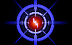 Power of abstract. Electronics The same energy points Royalty Free Stock Images