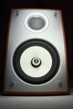 Power acoustic system. A photo of stereo speaker on black background Stock Photography