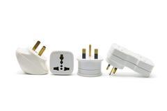 Power Adaptors. On White Background Royalty Free Stock Image