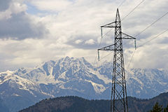 Power in the Alps Stock Images