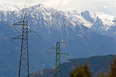 Power in the Alps Stock Photo