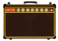Power Amp. A guitarists valve amplifier  over a white background Stock Images