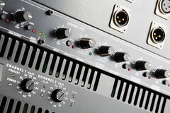 Power amplifier and equalizer Royalty Free Stock Photos