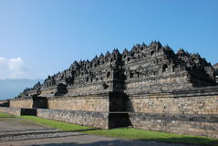 Power of Ancient Buddhism Temple Borobudur, Java Stock Image