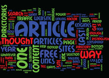 The Power Of Articles Text Background  Word Cloud Concept Stock Photo