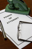 Power of Attorney. Image of a power of attorney on an office table Royalty Free Stock Image