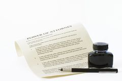 Power of Attorney 2 Stock Images