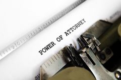 Power of attorney royalty free stock photo