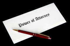 Power of Attorney legal document Royalty Free Stock Image