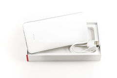 Power bank for charging mobile devices. Stock Photo