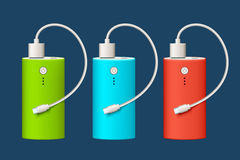 Power bank set Stock Images