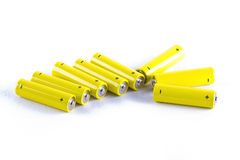 Power batteries on white Stock Image