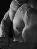 Power on biceps a Stock Image