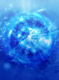 Power blue pattern background Stock Photos