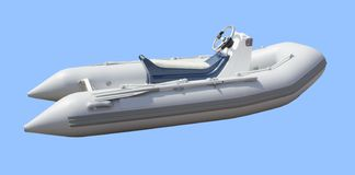 Power Boat isolated. Clipping path royalty free stock photos