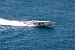 Power Boat - P1 World Championship. A Power Boat racing in the P1 World Championships in Malta Royalty Free Stock Images