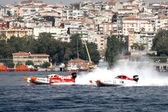 Power boats in challenge Stock Image