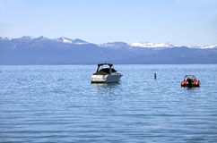 Power boats on lake Tahoe. Stock Photo