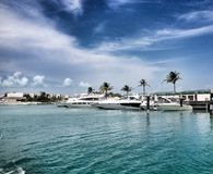Power boats and yachts Royalty Free Stock Photo