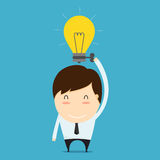 Power boost of ideas. Cartoon concept Royalty Free Stock Photo