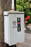 Power box outside Royalty Free Stock Photos