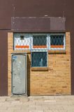 Power box and window grid Stock Photography
