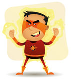 Power Boy - Comic Superhero Royalty Free Stock Photo