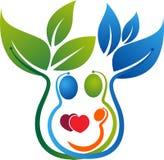 Family tree logo. Illustration art of a family tree logo with isolated background royalty free illustration