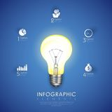 Power Bulb Infographics Chart Stock Photography