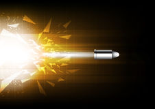 Power of bullet. Illustration power of bullet concept royalty free illustration