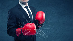 Power of business boxing Stock Image