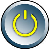 Power button. For web pages vector illustration