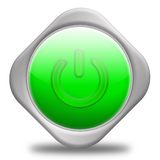 Power Button. Green,3d&Computer generated Stock Images