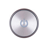 Power button. Isolated on white background Stock Photography