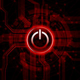 Power button. Abstract design  background with power button icon Stock Image
