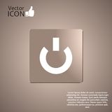 Power Button on the Background. Made in vector Stock Photos