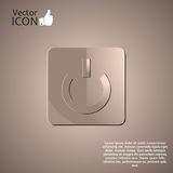 Power Button on the Background. Made in vector Royalty Free Stock Photo