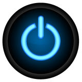 Power Button. Black Isolated background Stock Illustration