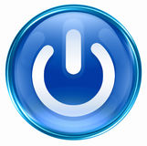 Power button blue, Royalty Free Stock Image