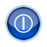 Power Button - Blue Stock Image