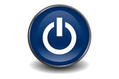 Power button blue Royalty Free Stock Photos