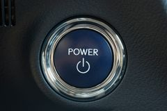 Power button of a car Royalty Free Stock Photo