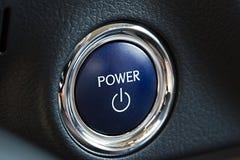 Power button of a car Stock Photo