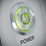 Power button of a computer, energy save Royalty Free Stock Image