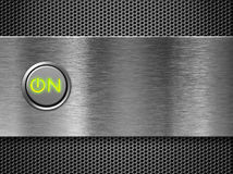 Power on button concept. Power on button on PC front panel Stock Image